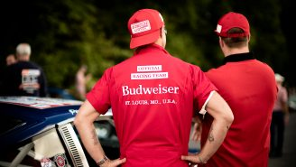 Budweiser Just Released A Limited-Edition Collection Of Vintage Budweiser Racing Team Apparel