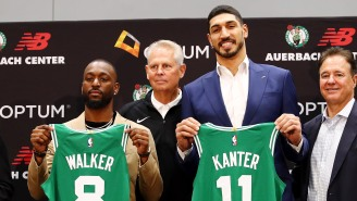 New Celtic Enes Kanter Trolls Knicks Fans, Briefly Wins A WWE Championship At Madison Square Garden
