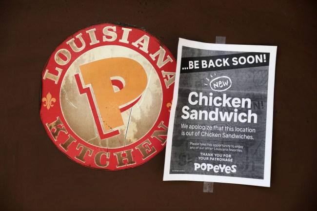 popeyes chicken sandwich bring own bun