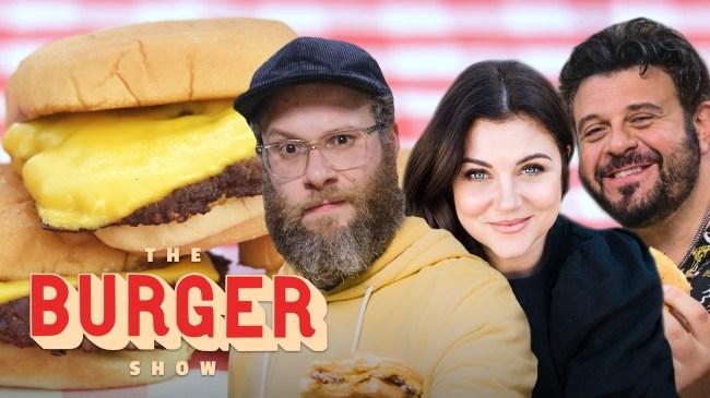 Seth Rogen and Adam Richman taste the best burgers in Los Angeles