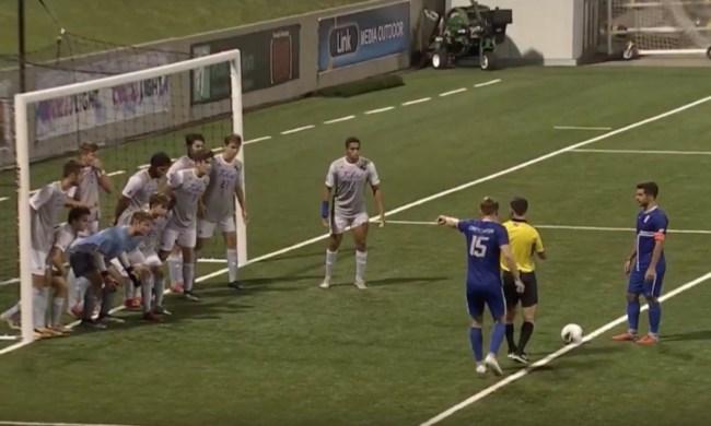 Tulsa vs Creighton Goal free kick inside box