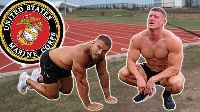 Two Bodybuilders Tried To Complete The Marine Corps Fitness Test