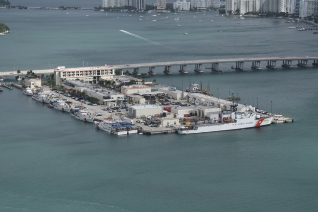 This work, Coast Guard Cutter Seneca offloads more than 12,000 pounds of cocaine in Miami.