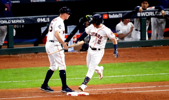 Alex Bregman Carried His Bat To First Base After Homering In Game 6