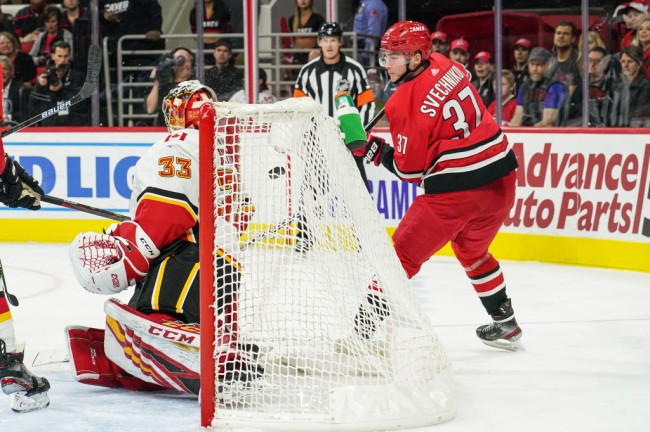 Andrei Svechnikov lacrosse goal