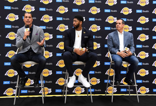 Anthony Davis joked that Rob Pelinka was like a stalking girlfriend while consulting him for offseason moves