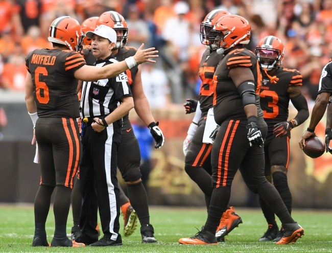 Baker Mayfield complains that NFL refs are prohibiting how he does his job