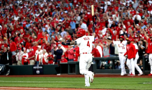 Baseball Purists Upset By Yadier Molina Throat Slash And Bat Flip