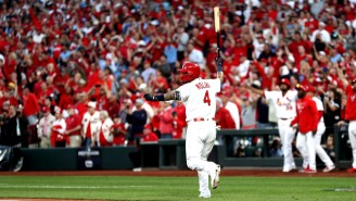 Baseball Purists Are Butthurt AF By Yadier Molina's Throat Slash And Epic Bat Flip Which Ended Up In The Outfield