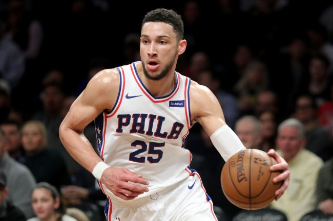 ben simmons free beer three pointer
