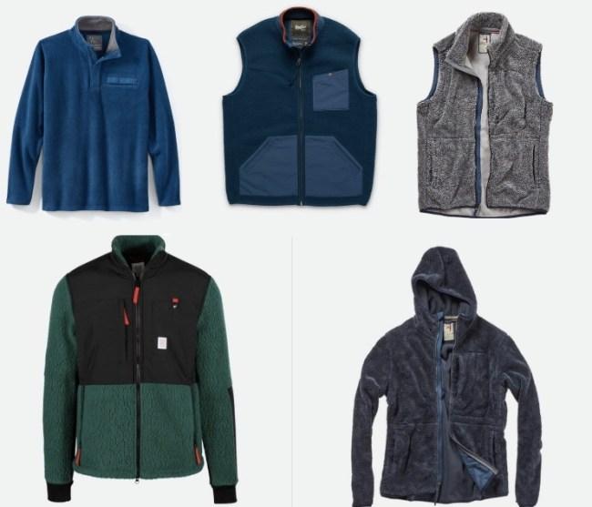 best fleece zip-ups and vests for men