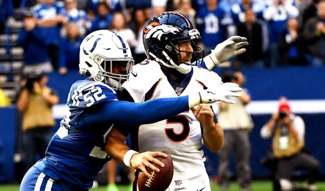 Broncos Claim Joe Flacco Won't Start Sunday Because Of A Neck Injury