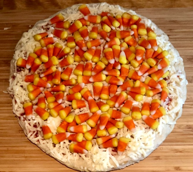 candy corn pizza review