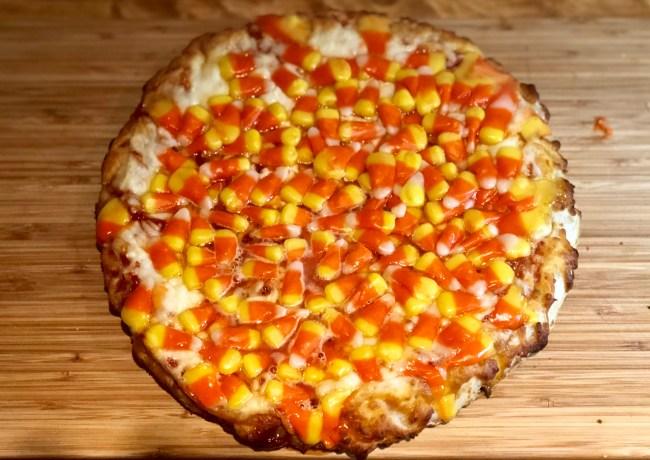 candy corn pizza taste test