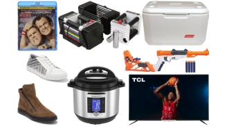 Daily Deals: 75-Inch TVs, Dumbbells, 'Step Brothers,' NERF Guns, Kenneth Cole Shoes, Halloween Decor Clearance And More!