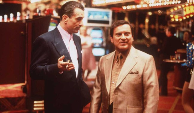 "ROBERT DE NIRO AND JOE PESCI IN ""CASINO""."