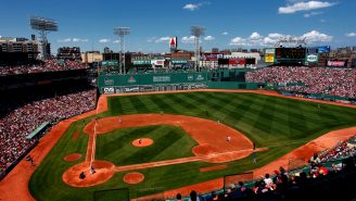 Fenway Park Doesn't Have A Single Blade Of Grass On It Right Now And It Looks Weird AF