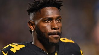 Antonio Brown Responds To Woman Dressed In His Jersey Holding 'Unemployed' Sign For Halloween