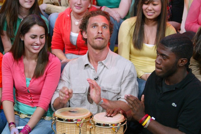 Matthew McConaughey was arrested 20 years ago today for being intoxicated while playing the bongos while naked.