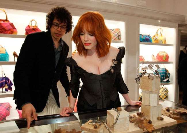 Actors Geoffrey Arend from Super Troopers and Christina Hendricks from Mad Men have gotten a divorce after 10 years of marriage.