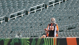 Hopeless Fan Who's Sleeping In A Tent On His Roof Until Bengals Win One Game Gifted An Entire Pallet Of Campbell's Chunky Soup To Warm Lonely Nights