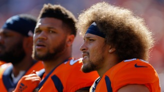 Broncos RB Phillip Lindsay Screams At Joe Flacco For Nearly Getting Him Decapitated In Garbage Time Of A 24-Point Blowout