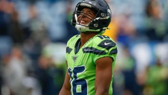 People Were Big Mad Online Because Tyler Lockett Fist-Bumped An Official After Scoring A Touchdown