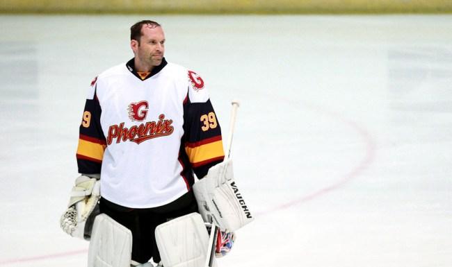 petr cech hockey debut