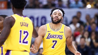 Lakers' JaVale McGee Fakes Injury To Trick The Warriors, Scores Easy Dunk During Preseason Game