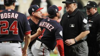 Here's What Nationals' Manager Dave Martinez Screamed At The Umpires Before Being Ejected For Arguing Controversial Call (NSFW)
