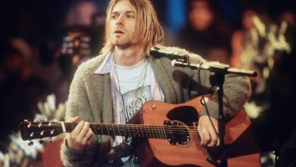 Kurt Cobain's Iconic Unwashed 'Unplugged' Sweater And 'In Utero' Custom Fender Guitar For Sale But They Will Cost You