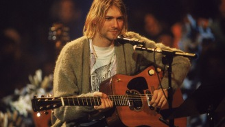 Kurt Cobain's Iconic Unwashed Sweater From Nirvana's 'Unplugged' Performance Sold At Record-Breaking Auction