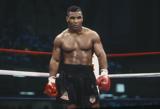 53-year-old Mike Tyson showed that he still has his lightning quick punches in boxing display while in jeans.