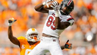 South Carolina's Bryan Edwards Hauls In A Wild OBJ-Type One-Handed Catch