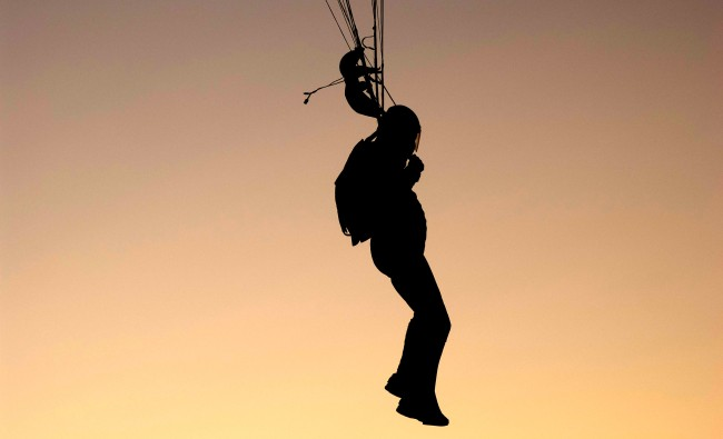 Illegal BASE Jump Call Cops On Himself Parachute Stuck Tower