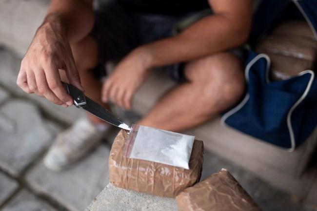 cocaine kilos bag knife drugs