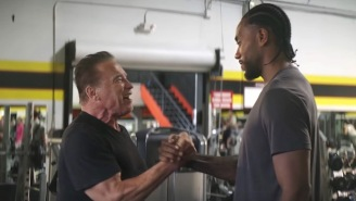 This 'Terminator' Commercial With Arnold Schwarzenegger And Kawhi Leonard Is Essentially An Acid Trip