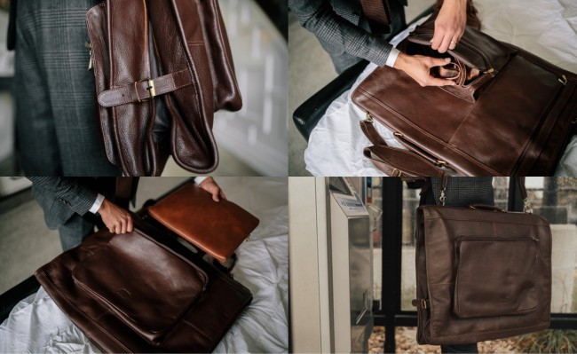 Kodiak Leather Yukon Garment Bag