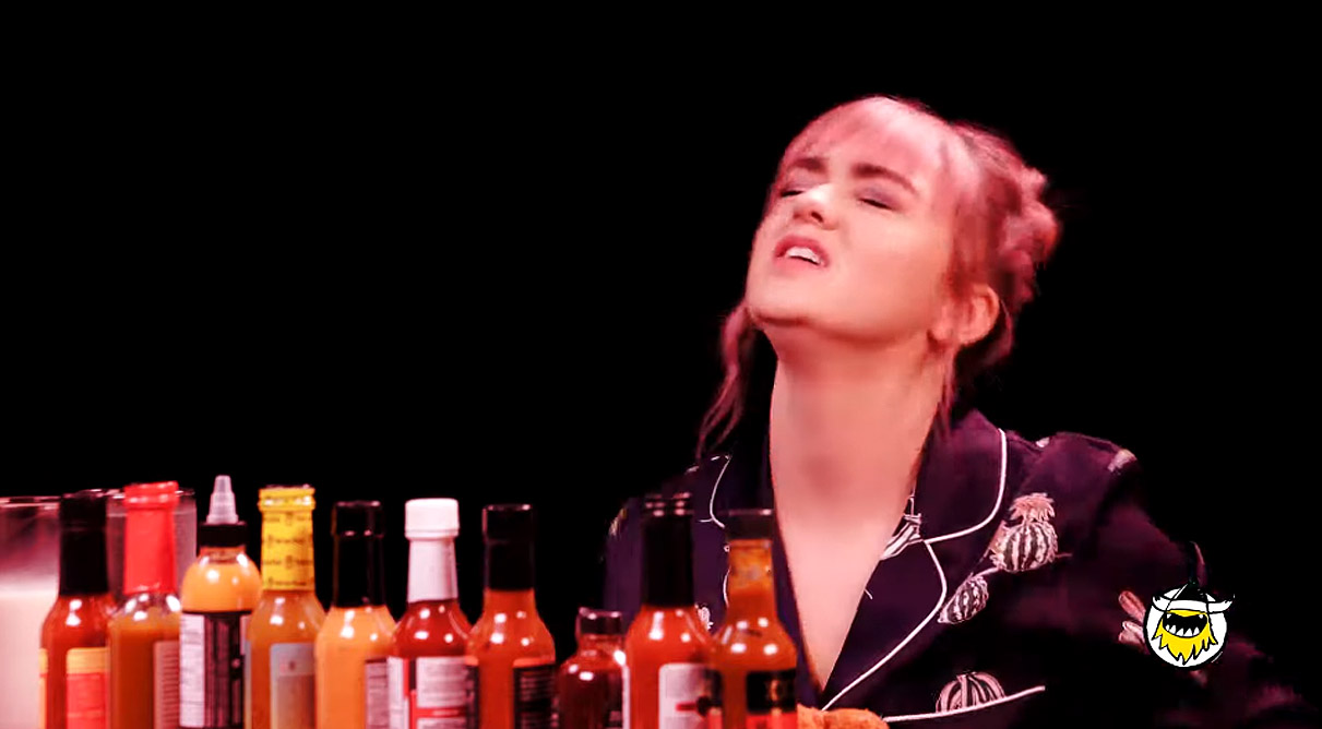 Maisie Williams Did The Hot Ones Challenge Shivered Uncontrollably While Sharing Got Secrets Brobible Hottest pictures of maisie williams, the arya stark actress from game of thrones. maisie williams did the hot ones