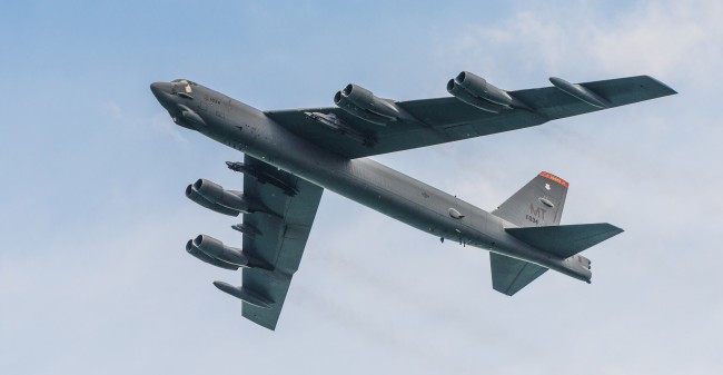 New In-Flight Video Of B-52 Bomber Secret Nuclear Mission Training Run