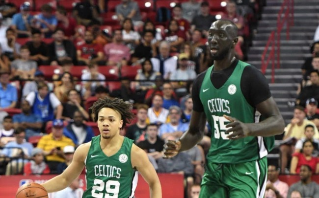 tacko fall learning to swim