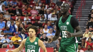 Imagine Walking Into Your Kid's Swimming Lesson And 7-Foot-7 Tacko Fall Is In The Same Class