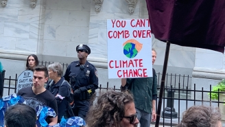 Group Called Extinction Rebellion Is Protesting Climate Change In NYC With Loads Of Fake Blood, Die-Ins, And The Scene Is Gory