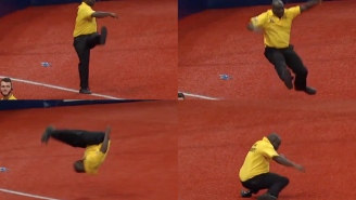 This MLB Security Guard Deserves A Big Ol' Raise For These Dance Moves He Broke Out During The ALDS
