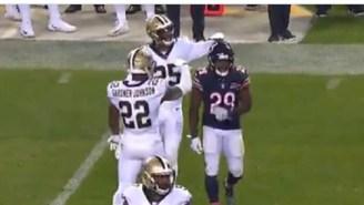 Saints' Eli Apple Disrespectfully Mocks Tarik Cohen's Height On The Field, Gets Injured A Few Plays Later