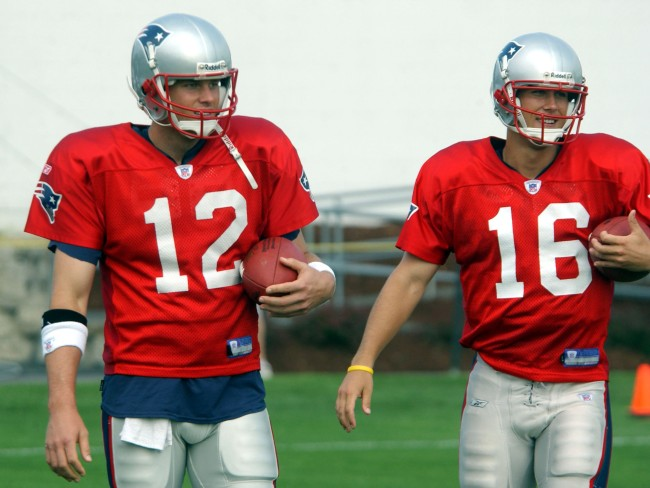 Tom Brady once peed on his teammate Matt Cassel's practice jersey as part of a prank war between the two QBs