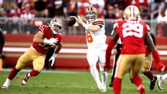 Video Surfaces Of Baker Mayfield During Pregame With The 49ers And What Exactly Is Richard Sherman So Upset About? (Updated)