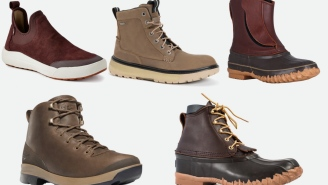 5 Stylish Pairs Of Rugged Leather Boots That Will Keep Your Feet Dry This Fall And Winter