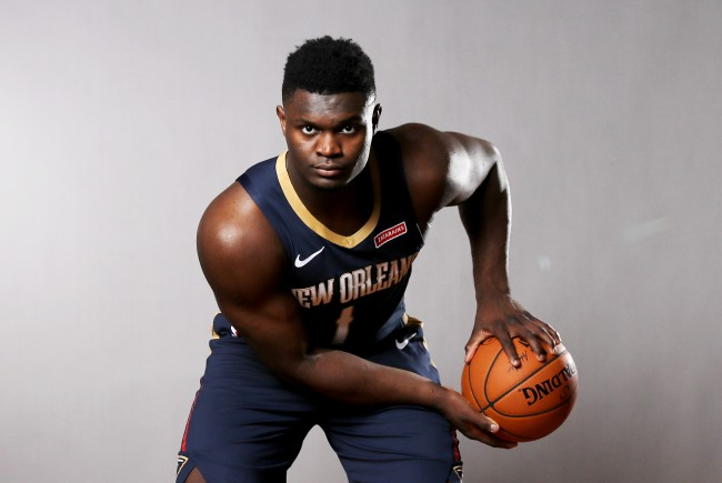 Zion Williamson jokes about how bad his rating is in NBA2k20, saying he's too slow