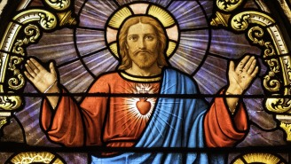 Church's Stained Glass Window Depicting Mary And Jesus Goes Viral For Its Very NSFW Design Flaw